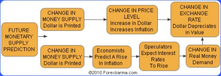 Currency Substitution Model Flowchart